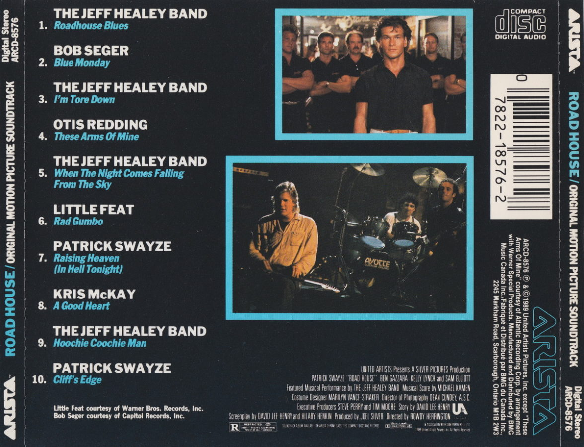 Road house soundtrack the official jeff healey site for House music tracklist