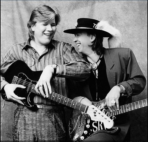 Jeff Healey and Stevie Ray Vaughan at CBC Studios Toronto 1987