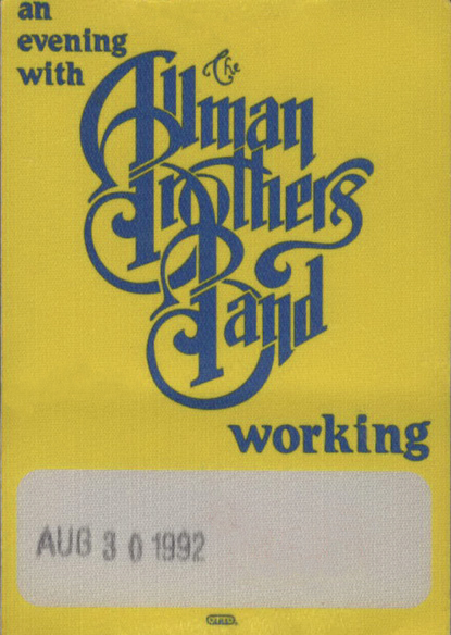 ABB Backstage Work Pass 1992