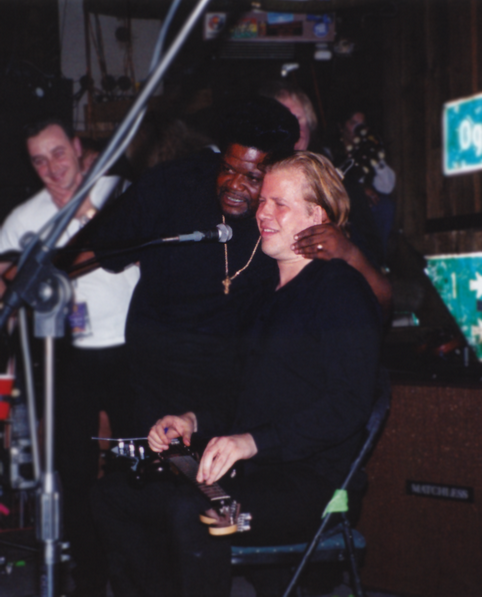 Jeff Healey & Buddy Miles - photo © Michael Skatges 1999